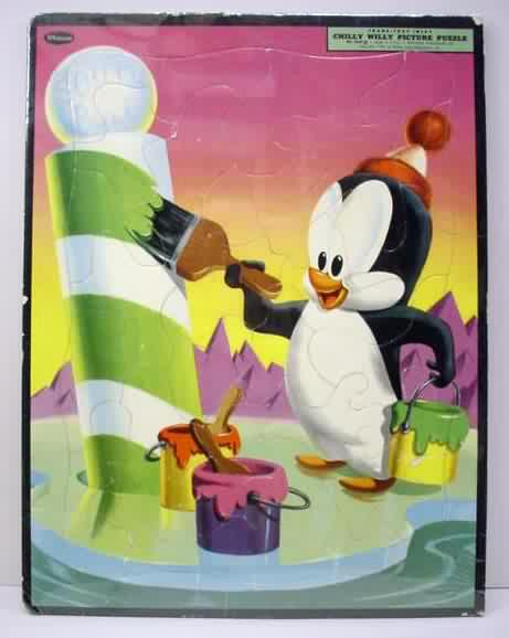 Chilly willy paint book whitman 2946 1960 great colorcover of