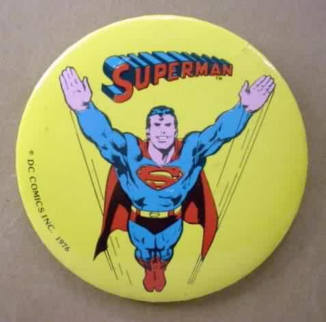 Christopher Reeve Superman Movie DC Comics 80s Pinback Button Badge Pin 39