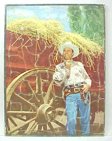 Full Color Photo Of Him Leaning Against A Hay Wagon Excellent 4500