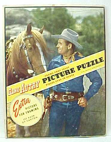 Color Photo Of GENE Standing Talking To His Horse Hands Are At Hips Hes Wearing Blue Jeans A Jean Western Shirt