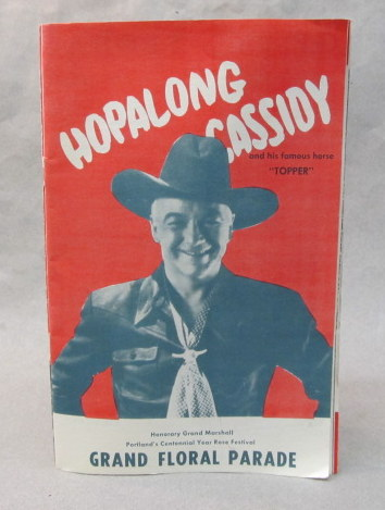 38b4479daa7b6 program. HOPALONG CASSIDY full page photos in the 1951 Portland Rose  Festival GRAND FLORAL PARADE ...