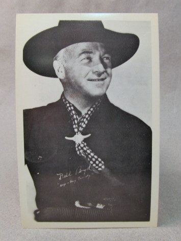 c5885df7bf5ce HOPALONG CASSIDY b w portrait photo of him from the waist up. 1940 s  vintage. never used. near mint to mint. 12.50