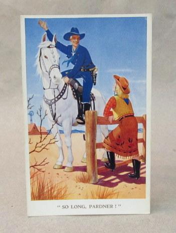 Postcard HOPALONG CASSIDY So Long Pardner