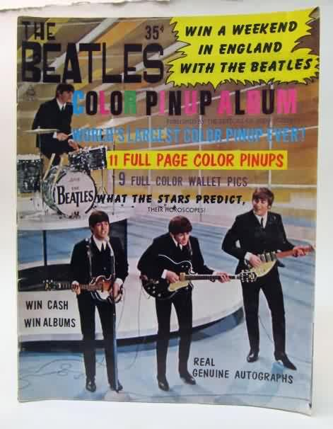 Vintage Rock n/' Roll Black and white Beatles 1970/'s Inv#G3081