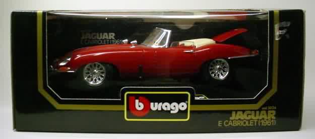 3026 1961 jaguar e cabriolet red bburago 118 1996 bmw z3