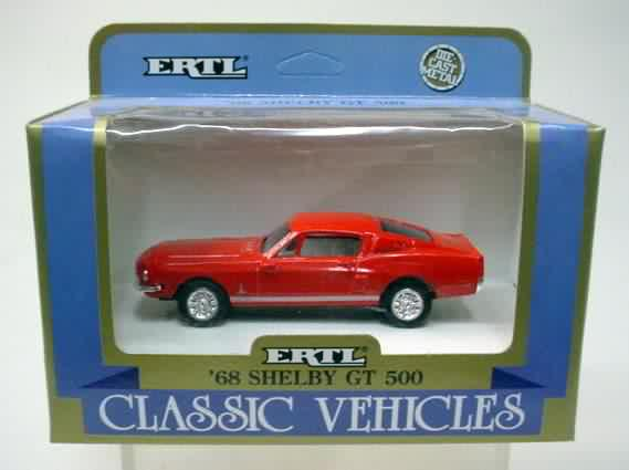 Die Cast Metal /'68 Shelby GT 500 1989 Ertl Classic Vehicle