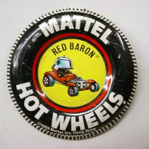 Hot Wheels coins buttons badges for sale from Gasoline Alley Antiques