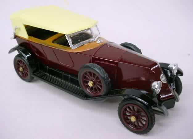 52 1923 Renault Torpedo E Sport 40cv Burgundy With Cream Roof Mint In Hard Plastic Display Box