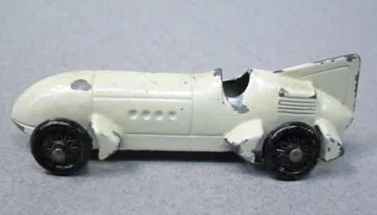Teal Race Car One Seater TootsieToy Jaguar Light Sky Blue Vintage Manufacture Diecast Cars Vintage Tootsie Toy Jaguar Chicago 24 USA 01