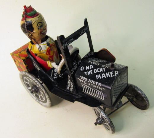 1920u0027s tin litho windup made in usa by marx 1920u0027s great action toy rolls around and front end rises as he rides around on his rear wheels and his head