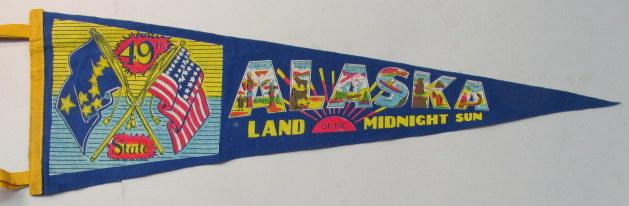 1980s Vintage Tourist Pennant  Vintage NASA Kennedy Space Center Tourist Pennant Flag Felt Souvinier Pennant