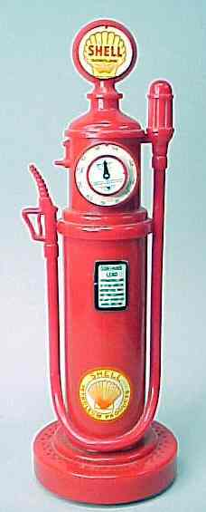 SHELLGASOLINE. Old time gas pump figural radio. near mint tomint. 9 3