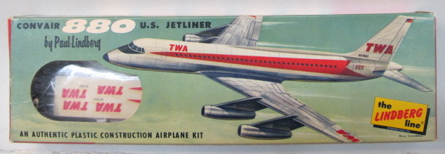 COMMERCIAL AIRLINERS vintage out of production plastic model