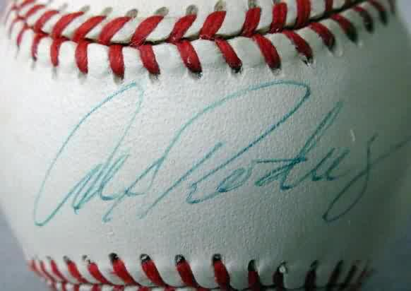 e17f30e75c Signed at private signing in Seattle on 7/28/96 while he was a Mariner and  includes Certificate of Authenticity. includes ball holder. 125.00