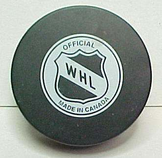 WHL HOCKEY PUCKS for sale from Gasoline Alley Antiques