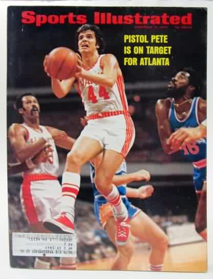 34e0a3e4394 11 12 73 Sports Illustrated. color cover photo PISTOL PETE MARAVICH. ...