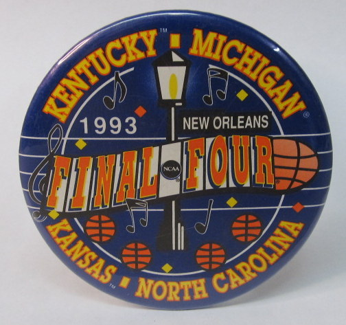 ceaeb706 1993 FINAL FOUR New Orleans: Kentucky Michigan Kansas North Carolina.  colorful. large 3.5