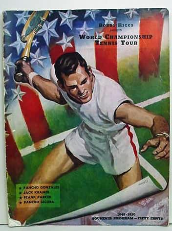Program 1949 50 Bobby Riggs Presents WORLD CHAMPIONSHIP TENNIS TOUR