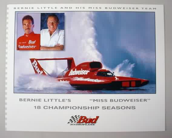 2000 Mission Bay Thunderboat Regatta Racing Program Hydroplane Miss Budweiser Fan Apparel & Souvenirs