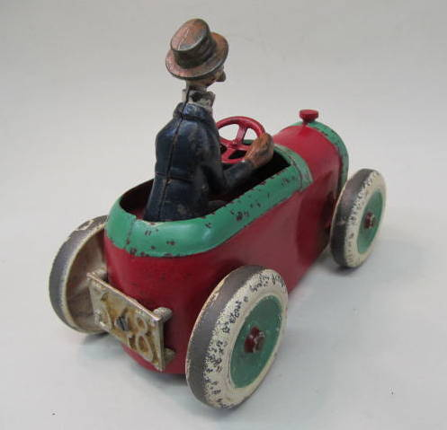 andy gump 348 cast iron car by arcade 1920s deluxe version with the painted andy gump figure has the