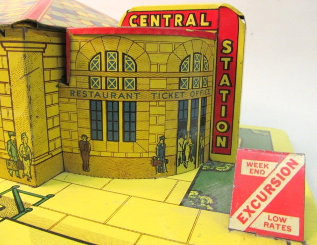 100% True Plasticville Small Gas Station Red Roof Red O-s Scale Vivid And Great In Style Other O Scale Parts & Accs